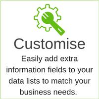 customise lease data
