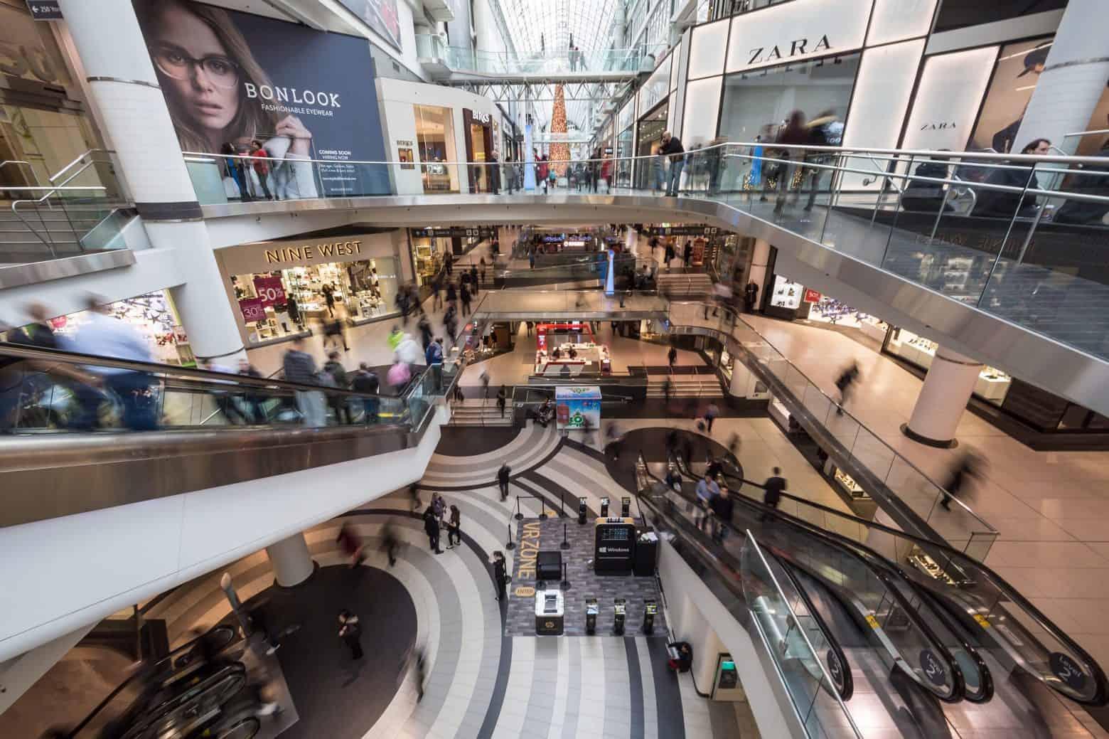 inside shopping centre tenants